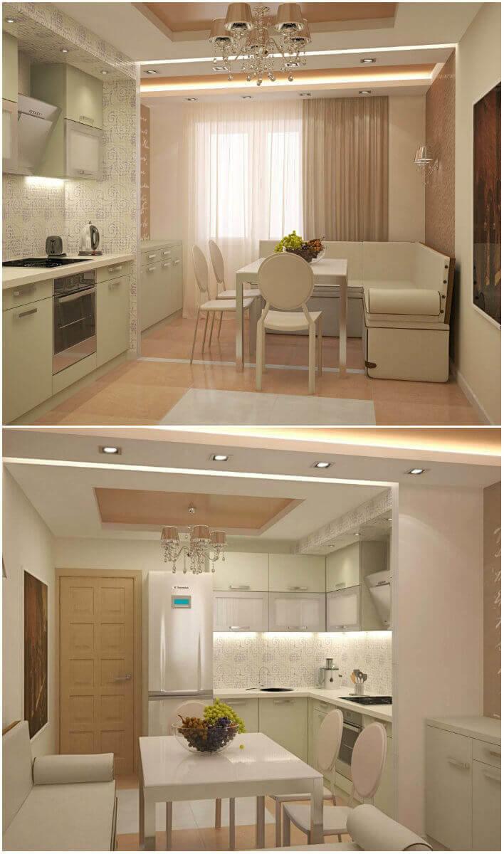 Дизайн кухни 14 кв. м (49 фото): планировка интерьера кухни 14 квадратных метров с балконом. проект и зонирование прямоугольного помещения