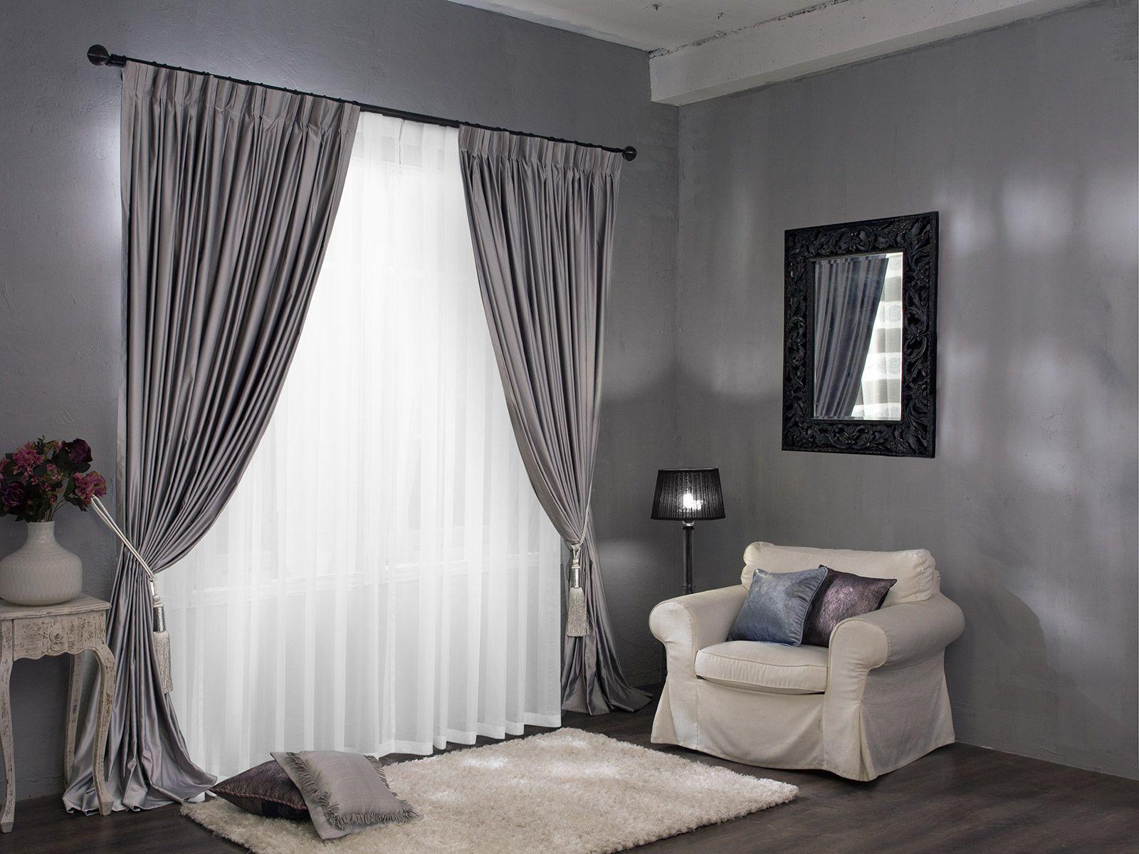 Серые шторы в интерьере: 40+ фото вариантов оформления - арт интерьер