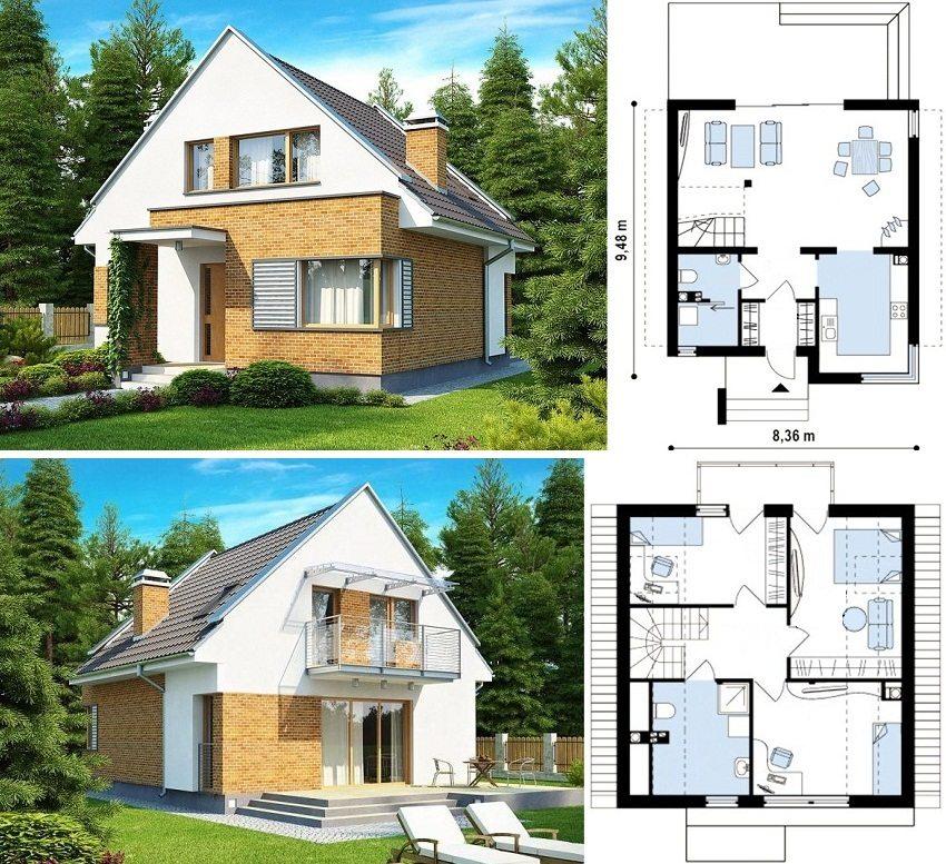г образный дом проект