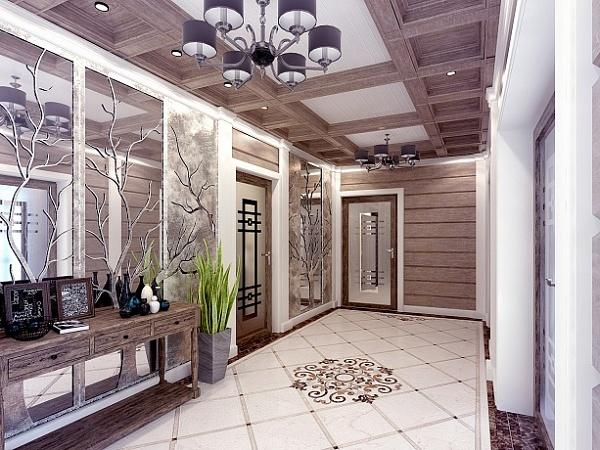 Отделка прихожей и коридора декоративным камнем