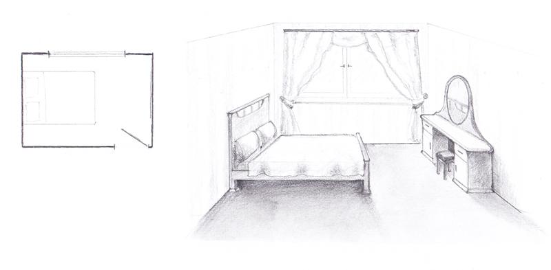 где должна стоять кровать по фен шуй