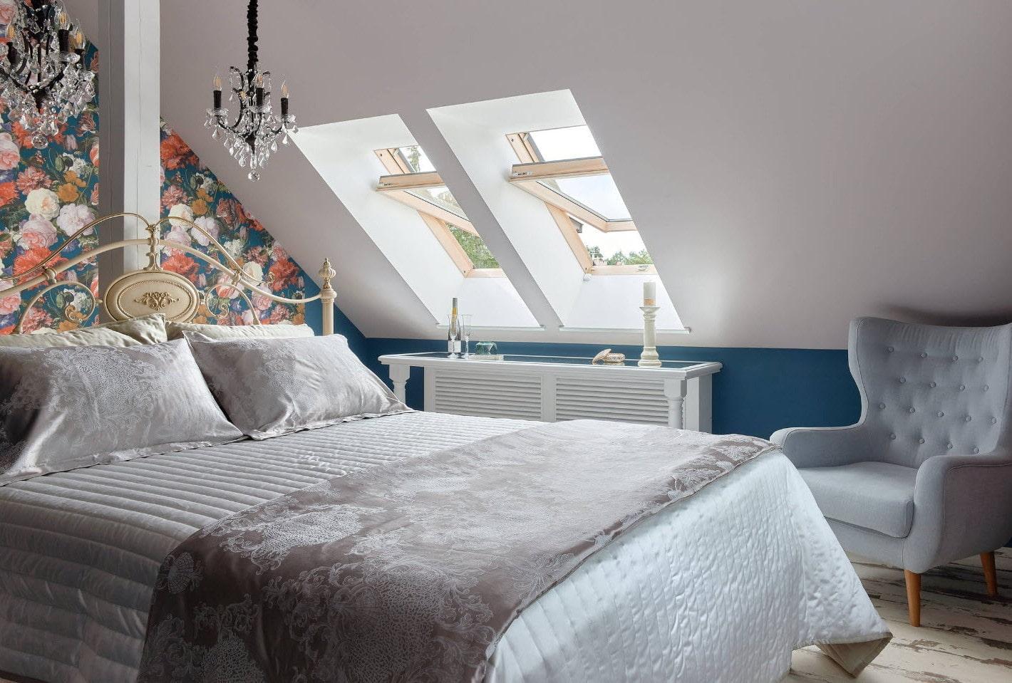 Каким может быть дизайн мансарды спальни, фото готовых стилистических решений