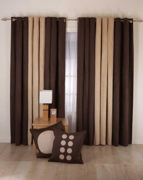 Подбираем шторы в спальню или кухню в коричневых тонах (20 фото)