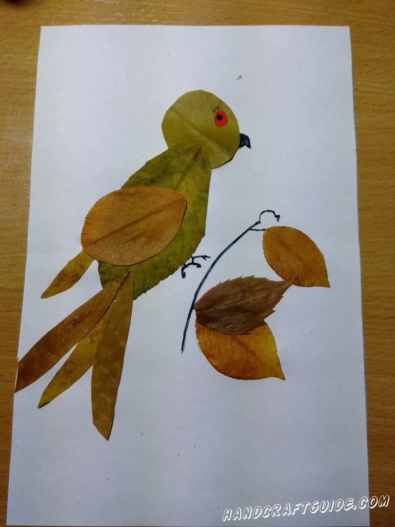 Поделки из осенних листьев своими руками, идеи с фото, мастер-классы