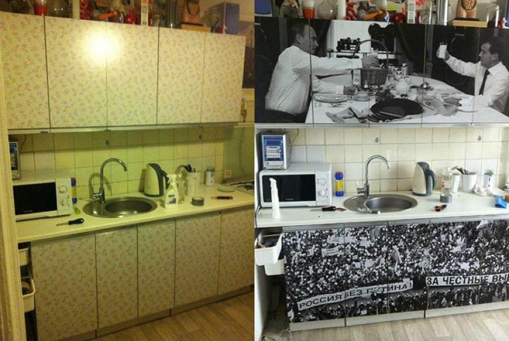 Замена фасадов кухни  — ok-lux.ru.