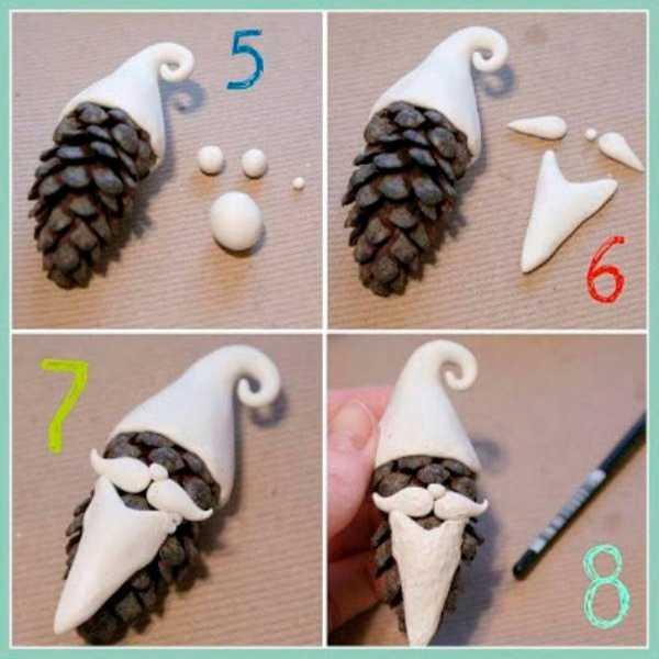 Идеи декора из шишек