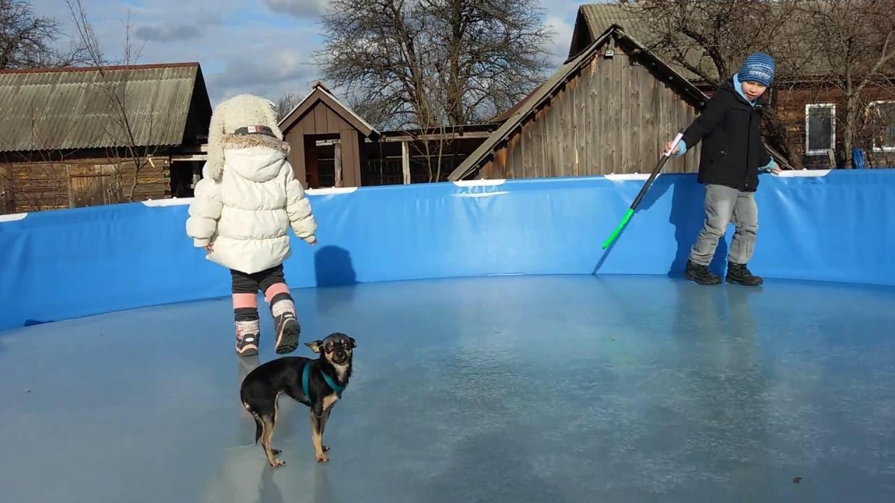 как сложить круглый бассейн на зиму