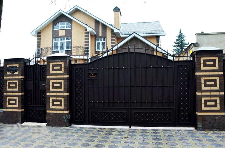 Складные ворота для гаража и дачи своими руками