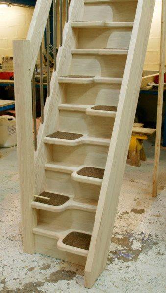 Деревянная лестница на второй этаж своими руками - схемы, четрежи