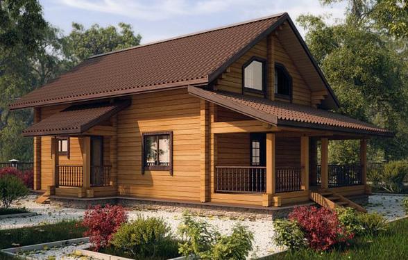 Интерьер дома из бруса внутри – примеры с фото