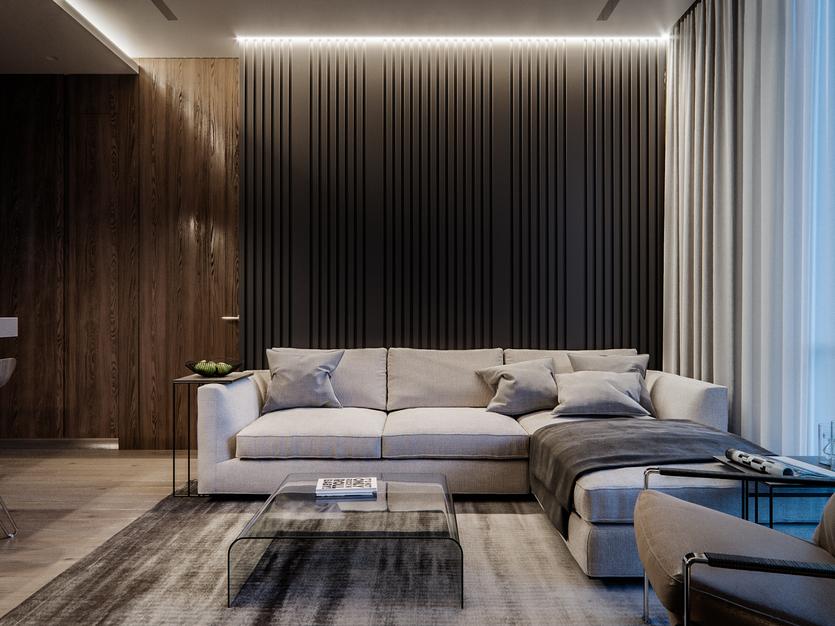 Деревянные рейки на стенах и потолке — стильный и современный интерьер