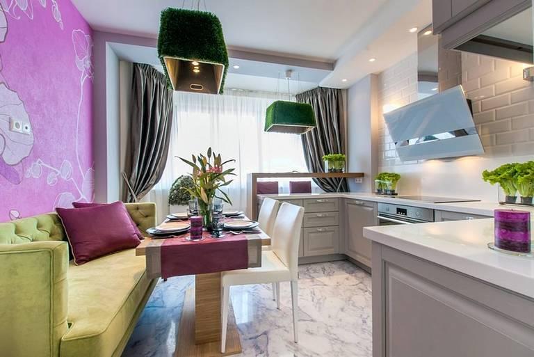 Дизайн кухня, совмещенной с балконом - 77 идей с фото + советы дизайнера