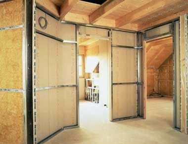 Перегородки в деревянном доме своими руками  материалы и монтаж - все про гипсокартон