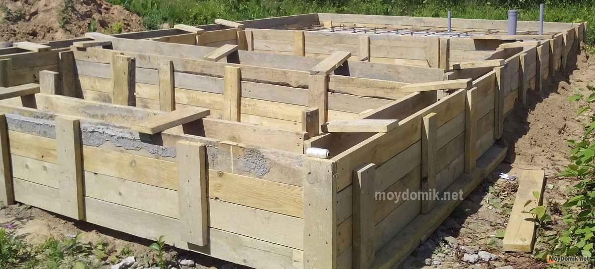 Мелкозаглубленный ленточный фундамент для дома из газобетона