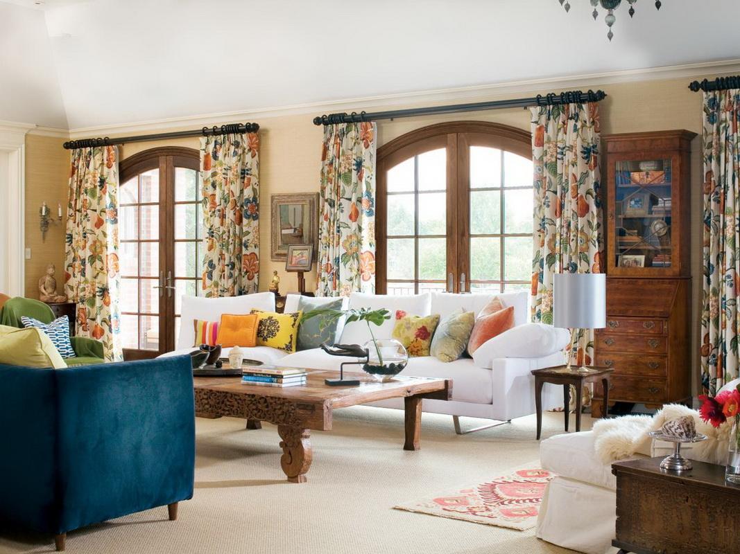 шторы в зал в стиле прованс