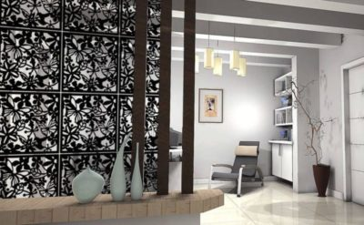 декоративная перегородка для зонирования комнаты