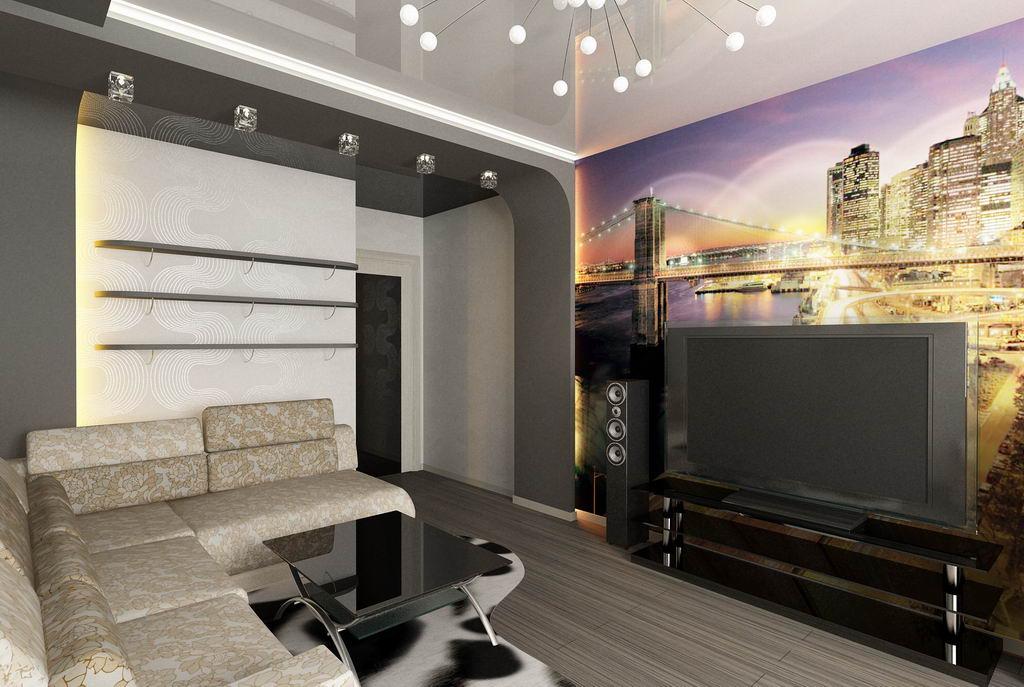 Дизайн 1 комнатной квартиры хрущевки для современного человека— 20 фото интерьеров