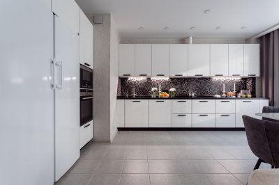 Дизайн прямого кухонного гарнитура на 3 метра: варианты, стили и подбор цвета