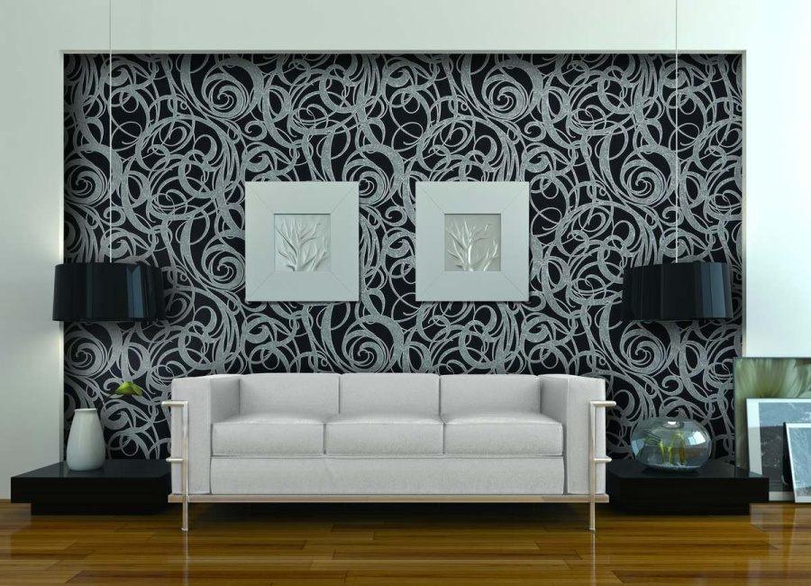 Белые обои: 175 фото примеров использования и вариантов украшения различных комнат