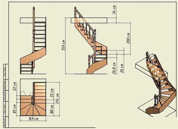 Лестница винтовая деревянная своими руками на второй этаж