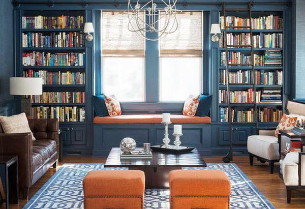 Дизайн домашней библиотеки: оформление интерьера, выбор мебели и фото