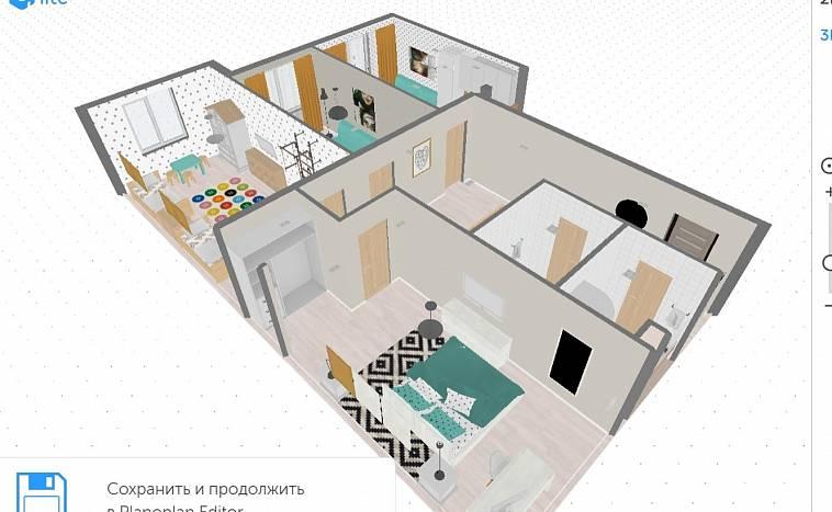 план квартиры с мебелью