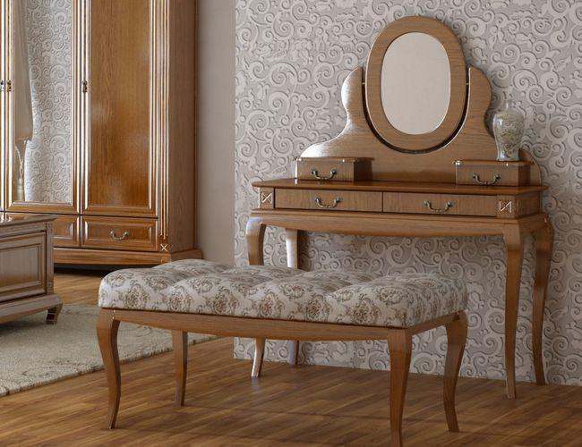 Угловой туалетный столик с зеркалом (31 фото): дамский будуарный стол для макияжа из массива и его размеры