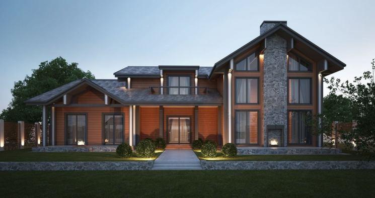 Одноэтажные дома в стиле шале: проекты, фото