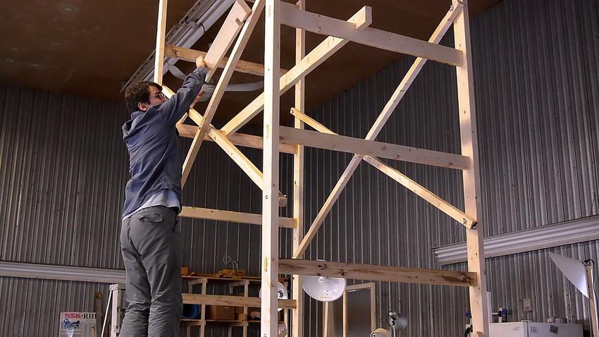 Как сделать строительные леса своими руками?