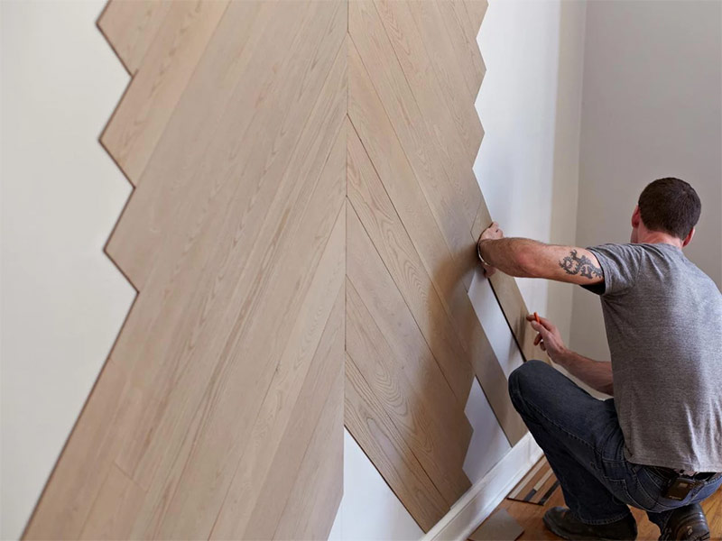 Отделка стен ламинатом. как крепить ламинат на стену?