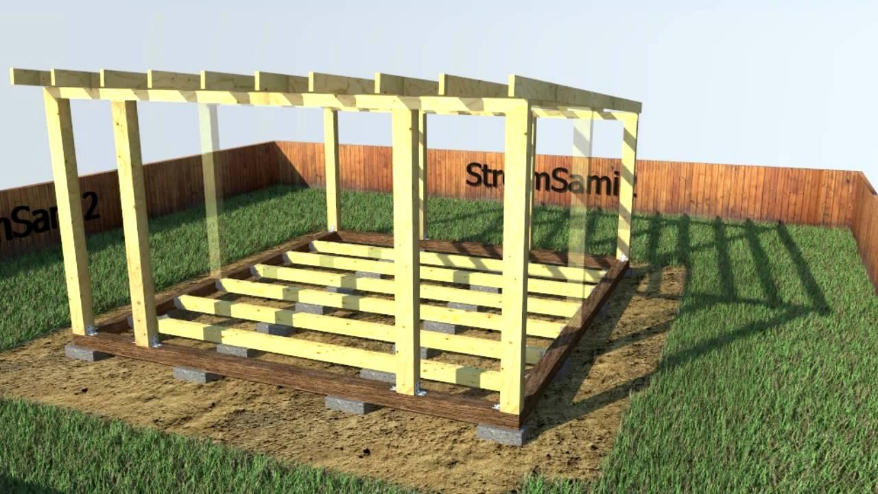 Каркасный гараж из дерева своими руками: проекты деревянных каркасов из досок или сруба