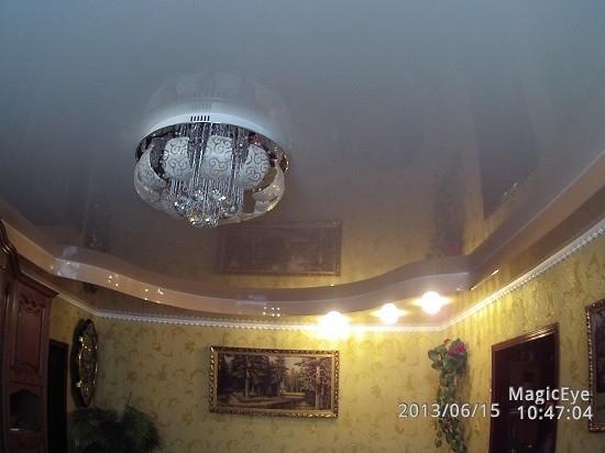 натяжные потолки фото для гостиной двухуровневые