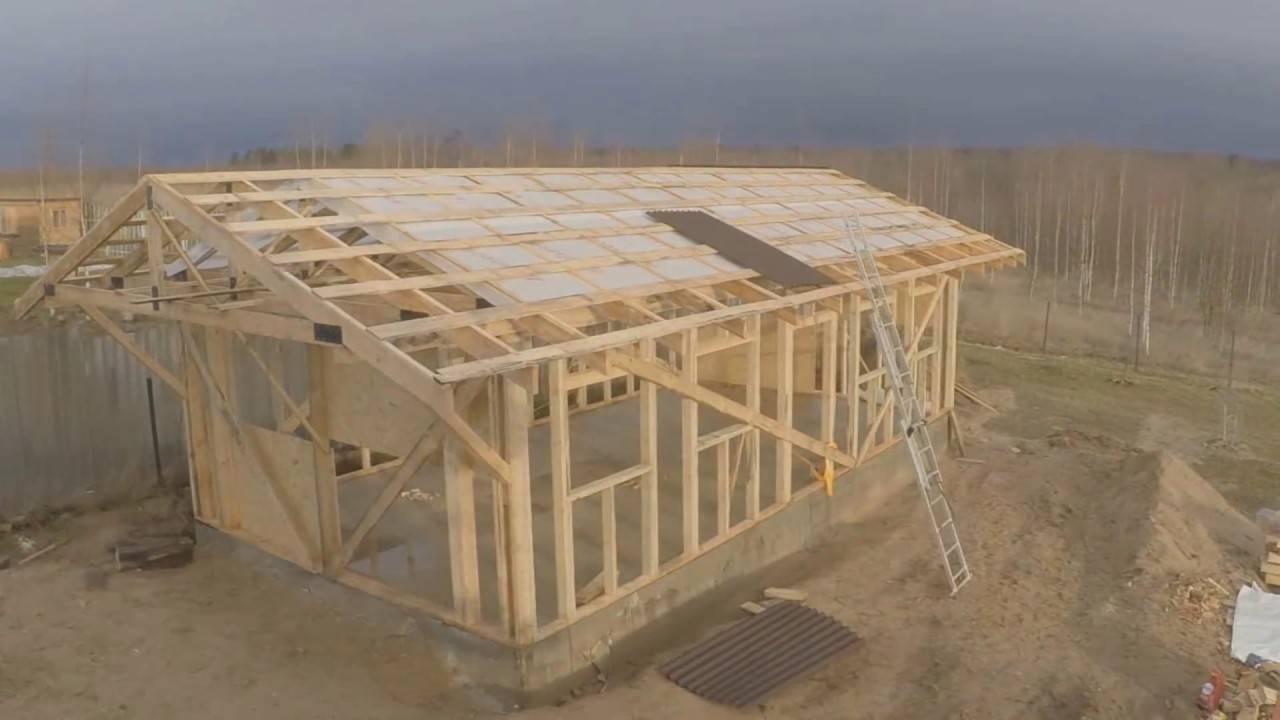 как построить деревянный гараж