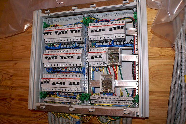 сборка электрощита для частного дома 220в