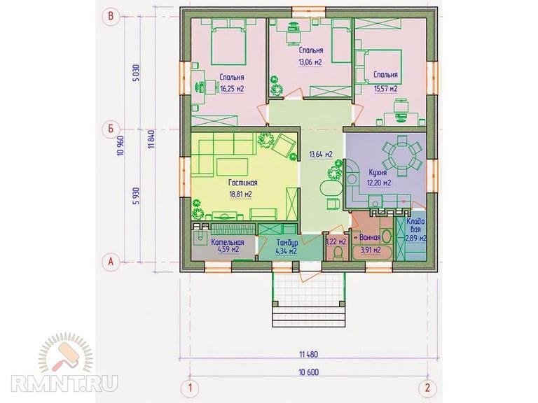 минимальная площадь жилой комнаты