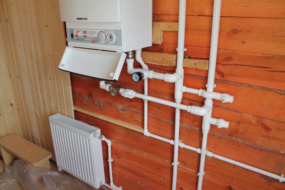 монтаж труб отопления в частном доме