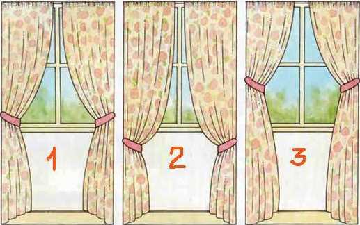 Какие существуют подхваты для штор. как сшить красивые прихватки для штор?