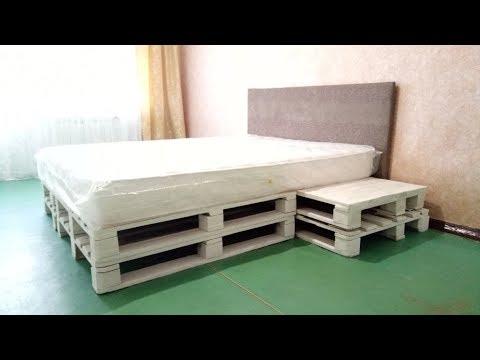 кровать из паллетов своими руками