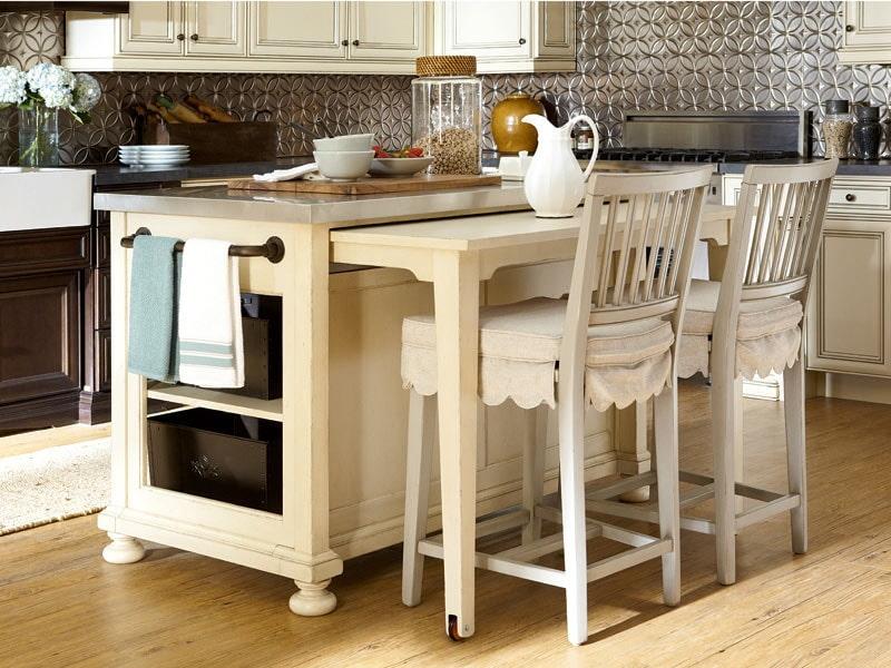 Выдвижной стол – особенности применения и способы расположения в интерьере (80 фото)