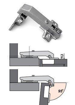Петли для кухонных шкафов: виды петель для угловых шкафов для кухни, как крепить, как правильно установить