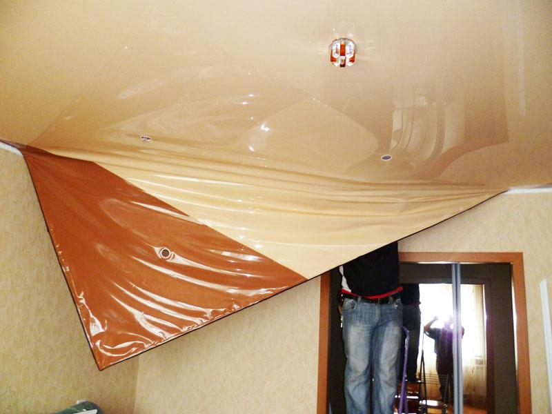 Как без помощи других снять натяжной потолок