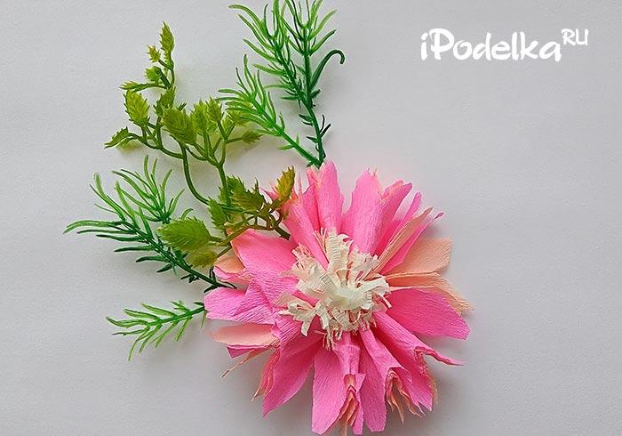 цветы из гофры своими руками