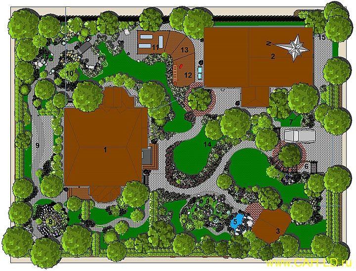 Наш сад - программа для ландшафтного дизайна и 3d визуализации