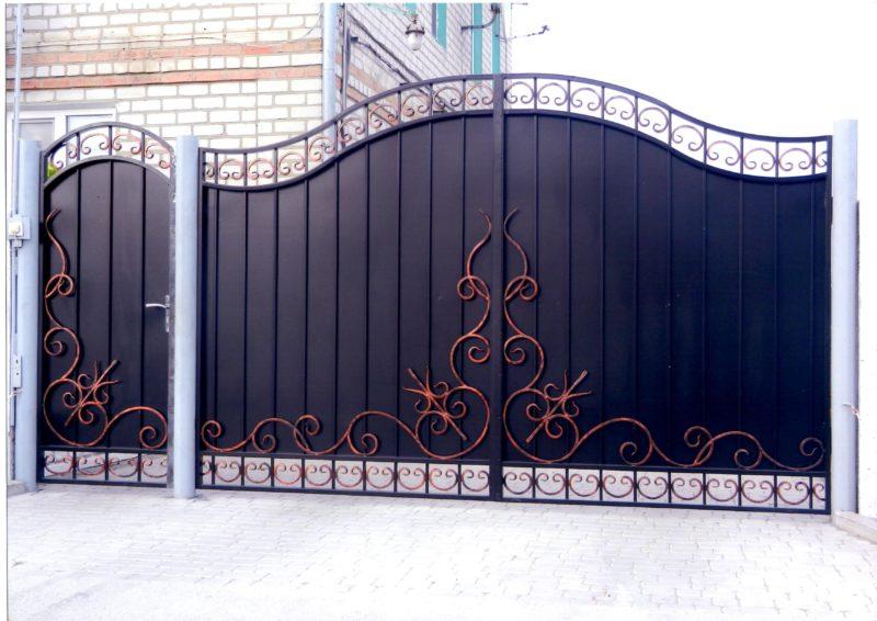Чертеж ворот: 90 фото идей, варианты применения и особенности современных конструкций