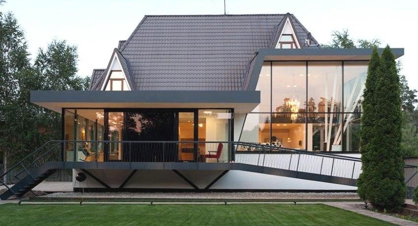 Современная отделка фасада дома - 200 фото