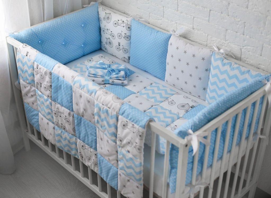 Бортики в кроватку для новорождённых, фото и особенности выбора