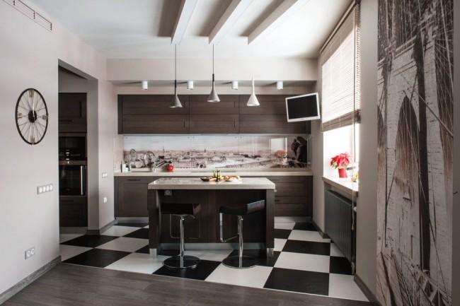 Стеклянные стеновые панели для кухни: фото, дизайн интерьера, советы