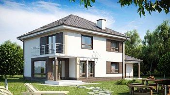 Небольшие двухэтажные дома / красивые проекты и планировки