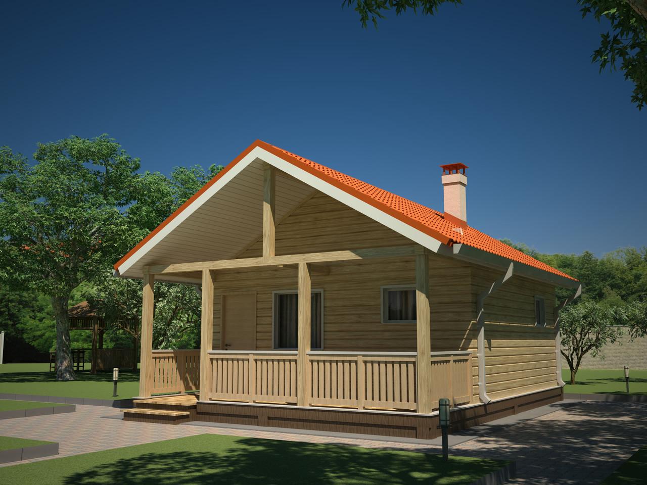 дом с верандой и террасой