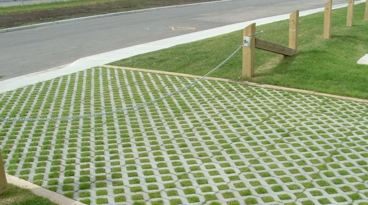 газонная решетка для дорожек на даче